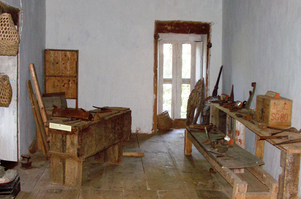 Carpenter's working table and tools for agriculture and wood working